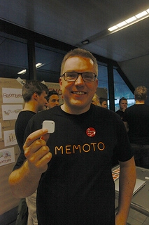 Memoto CEO Martin Kallstrom with the Memoto camera. Photo by Johan Lange