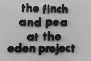 The Finch and Pea at the Eden Project