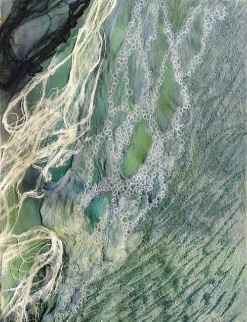 Shoreline 3, mixed media by Julie Shackson
