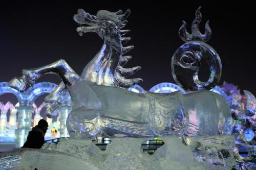 Ice sculpture at the 2014 Harbin Ice and Snow Festival