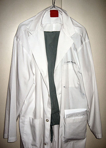 White coat. Image courtesy of Samir via Wikimedia Commons.