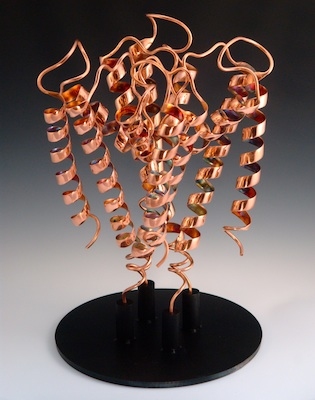 Michael Tyka, KcsA Potassium Channel, Copper and Steel, 2011