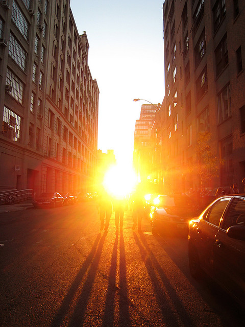 2007 Manhattanhenge. Photo by  Sahadeva Hammari on Flickr.