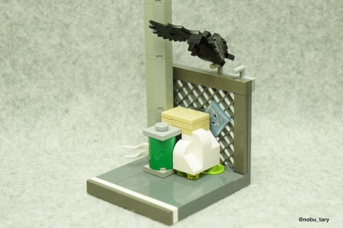 """LEGO Crow"" by nobu_tary (All Rights Reserved; Used with Permission)"