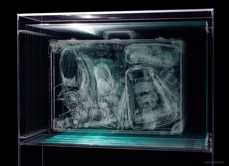 David Spriggs, Profile, Type A - Briefcase, 2014, Glass