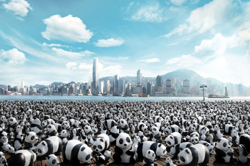 Pandas on Tour in Hong Kong, summer 2014