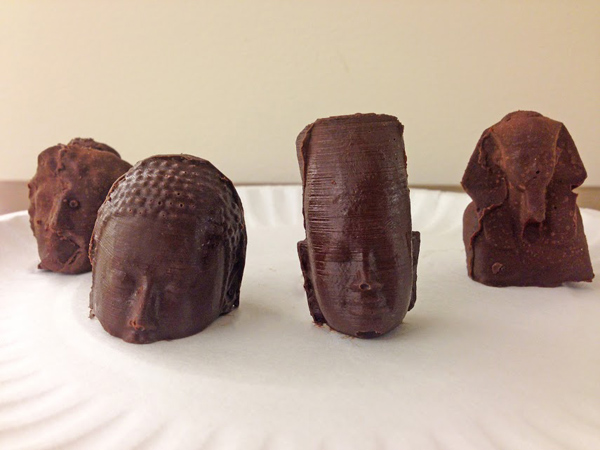 Molded chocolate castings by Jimmy Tang and Yuanjin Zhao