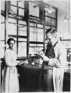 Lise Meitner with Otto Hahn